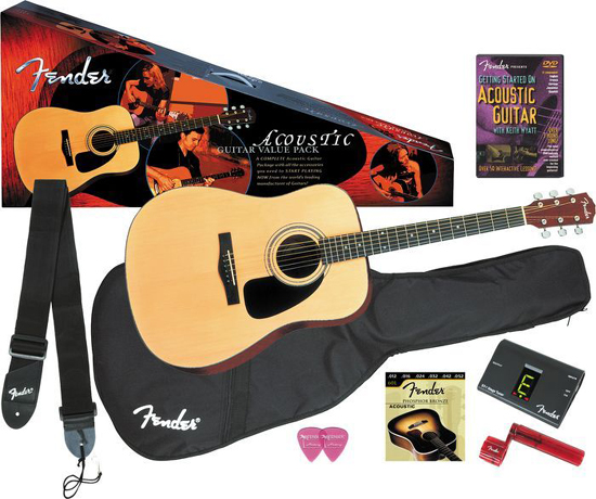 fender dg 8s solid top acoustic guitar package. Black Bedroom Furniture Sets. Home Design Ideas