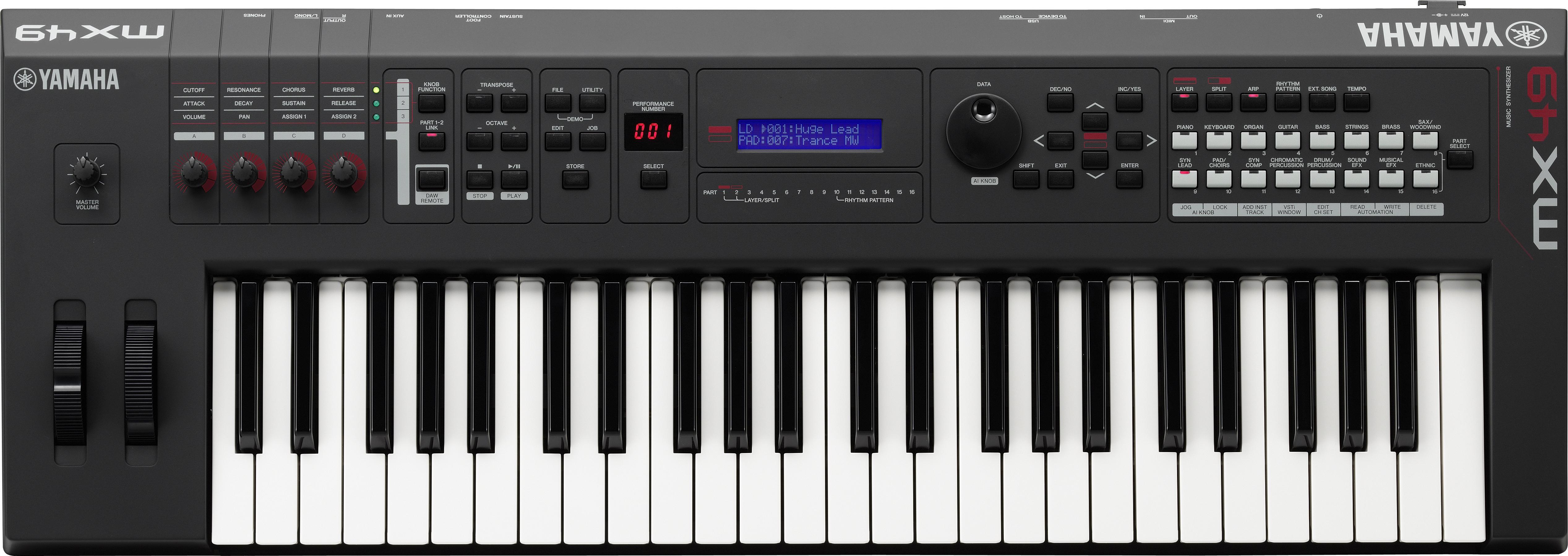 Yamaha mx49 49 key music production synthesizer keyboard for Yamaha keyboard synthesizer