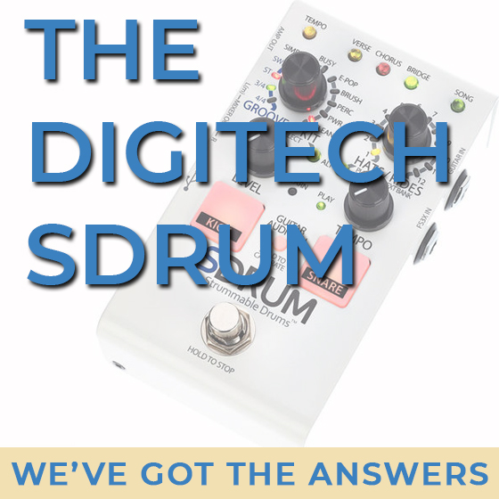 The Digitech SDRUM: Create Drum Tracks From Your Guitar