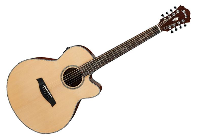 ibanez ael108mdnt 8 string acoustic electric guitar natural. Black Bedroom Furniture Sets. Home Design Ideas