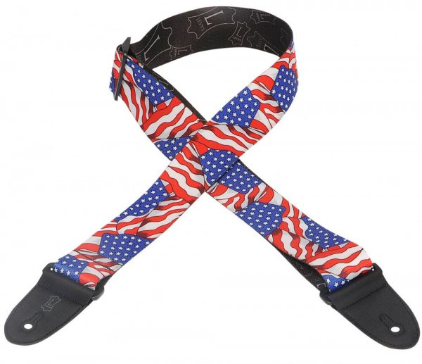 levys mp guitar strap american flag. Black Bedroom Furniture Sets. Home Design Ideas